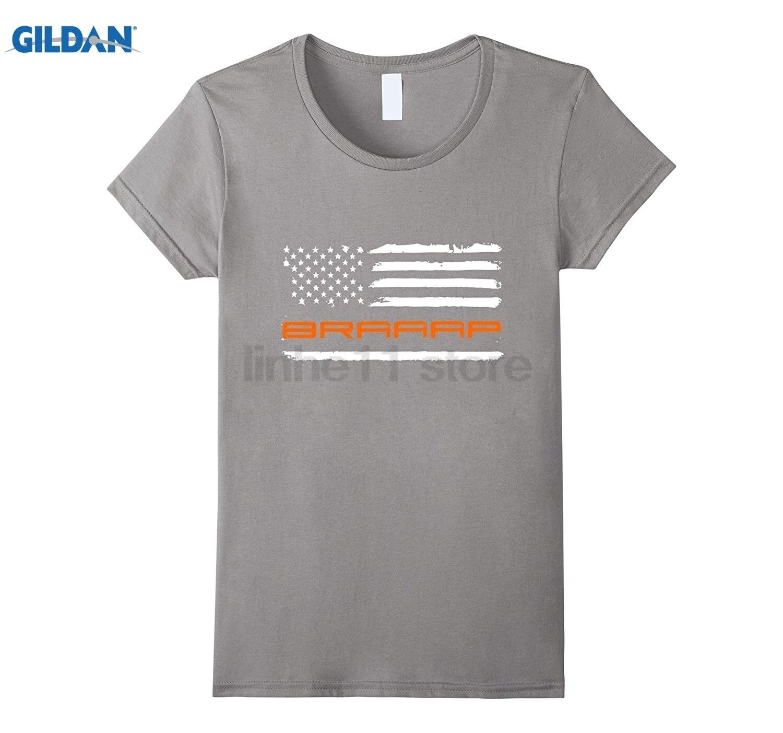 Возьмите Braaap-Мотокросс, грязь, мотоцикл, флаг Blaze оранжевый Для женщин футболка