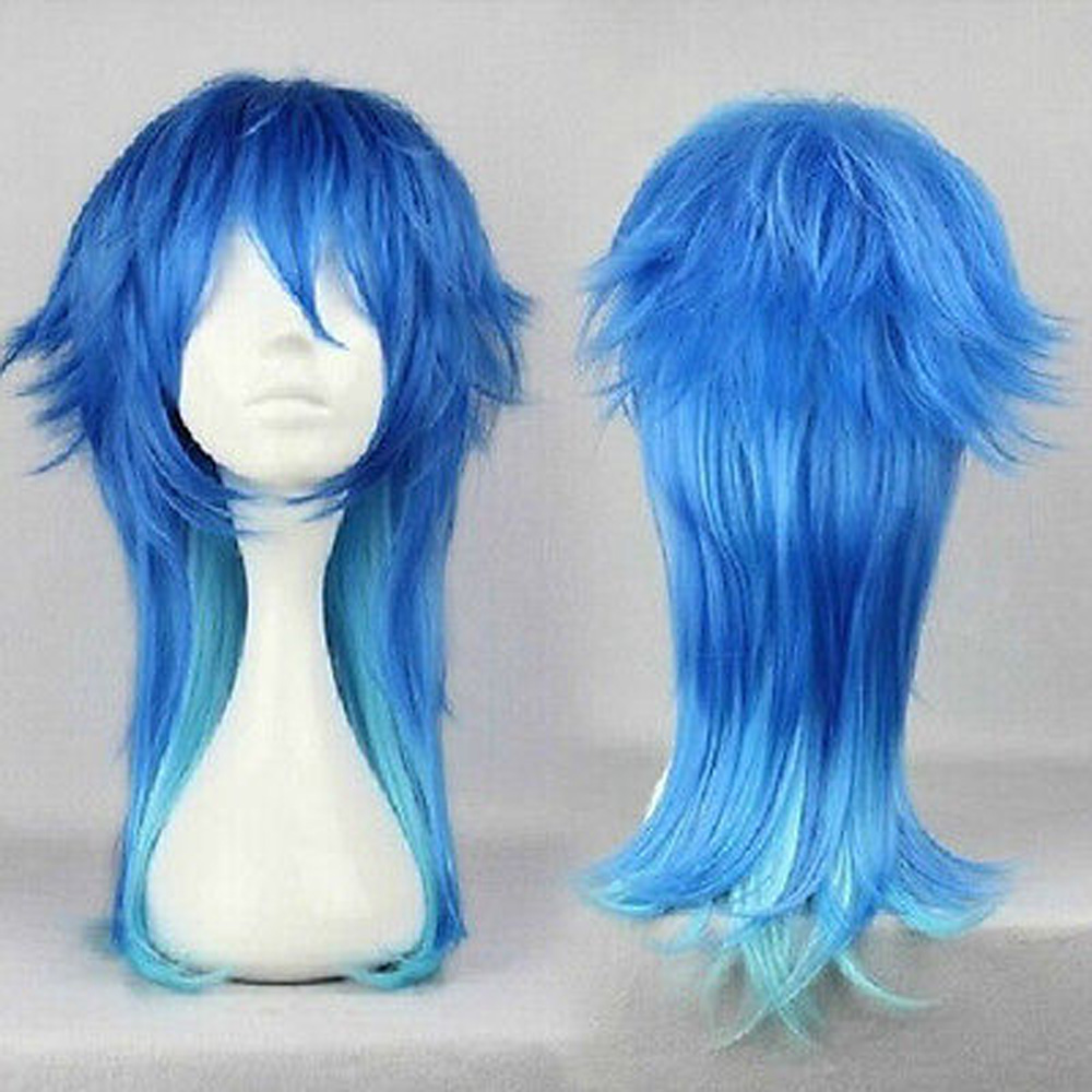 HAIRJOY Dramatical Murder DMMD Seragaki Aoba Cosplay Costume Party Wig Two Tone Blue Ombre Synthetic Hair Free Shipping 2