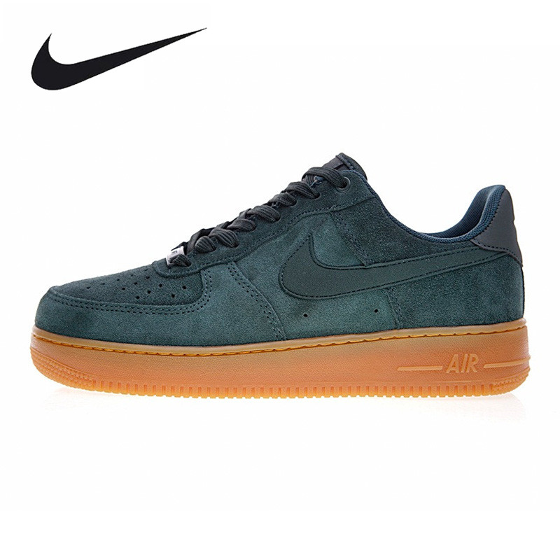 Nike Air Force 1 AF1 Mens Skateboarding Shoes , Green, Non-Slip Shock Absorption Wear Re ...