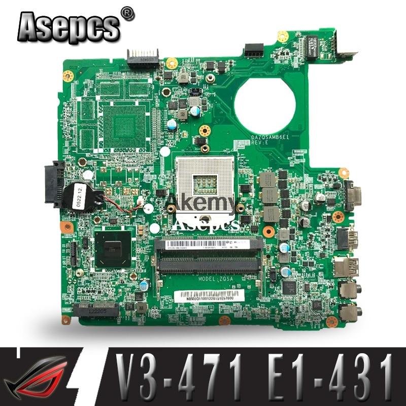V3-471 DAZQSAMB6E1 Motherboard For ACER Aspire E1-431 E1-471 V3-471 Laptop Motherboard HM77 Original Test Motherboard
