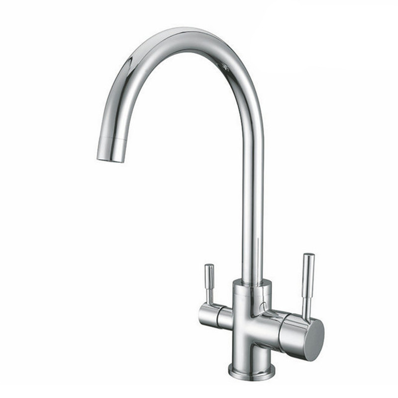 Chrome Finished Osmosis Reverse 3 in 1 Kitchen Faucet three way clean water filter taps