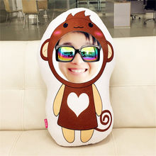 Habinisi diy photo custom creative plush doll Chinese zodiac doll the best gift boneca lol baby reborn girls toys hot sale(China)