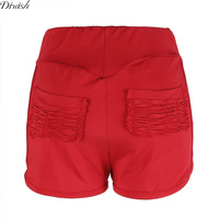 Diwish New Arrival Solid Polyester Shorts For Women Summer Casual Summer Casual Slim Fit Pleated Shorts Women Lady Sport Shorts