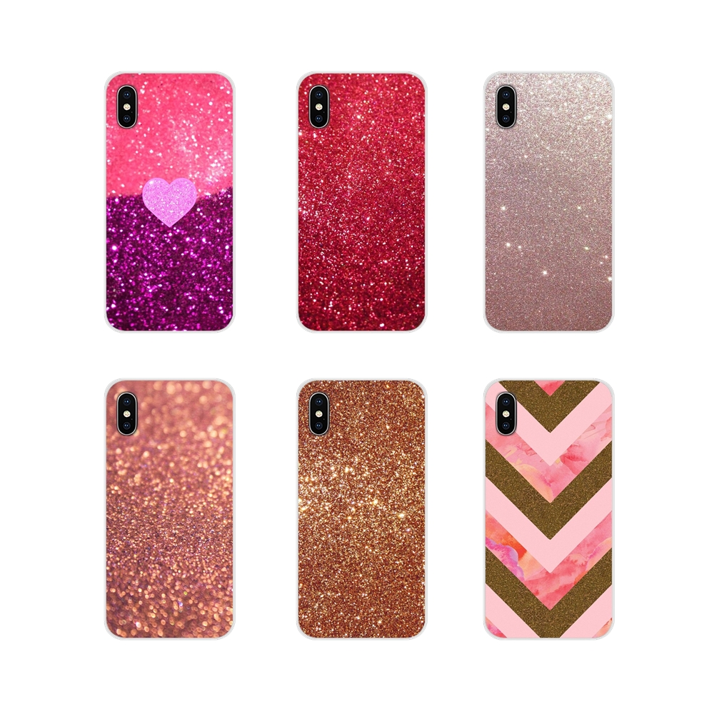 TPU Bag <font><b>Case</b></font> Rose gold <font><b>glitter</b></font> sparkles Pastel Art For Xiaomi Redmi Note 6A MI8 Pro S2 A2 Lite Se MIx 1 Max 2 <font><b>3</b></font> For <font><b>Oneplus</b></font> <font><b>3</b></font> 6T image