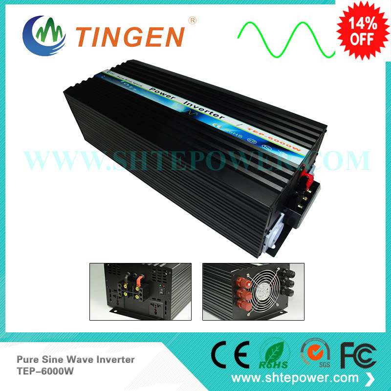 Ac inverter 6000w 6kw off grid system pure sine wave 12v 24v 48v dc to 110 120v 220v ac output 6000w 6kw pure sine wave inverter for