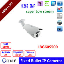 H.265 IP Camera 1/1.8″ SONY Low Illumination 5MP CMOS Sensor,super low Main stream, suit for larger Network CCTV