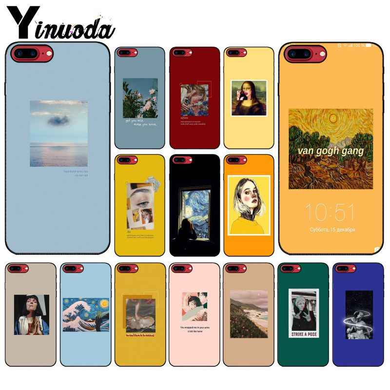 Great art aesthetic van Gogh ภาพวาด Mona Lisa David โทรศัพท์กรณีสำหรับ iPhone 6 S 6 plus 7 7 plus 8 8 Plus X Xs MAX 5 5 S XR