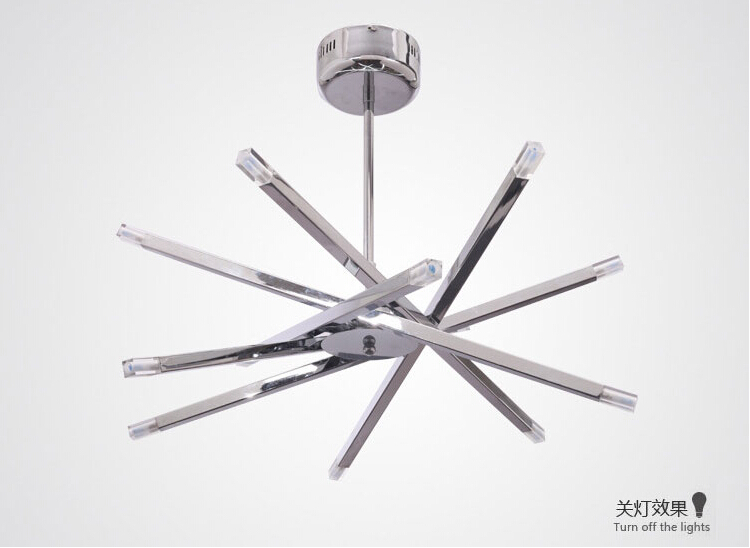 Lights Rod Star Ceiling Lights Chrome Ceiling Chandeliers G LED - Chrome kitchen ceiling lights
