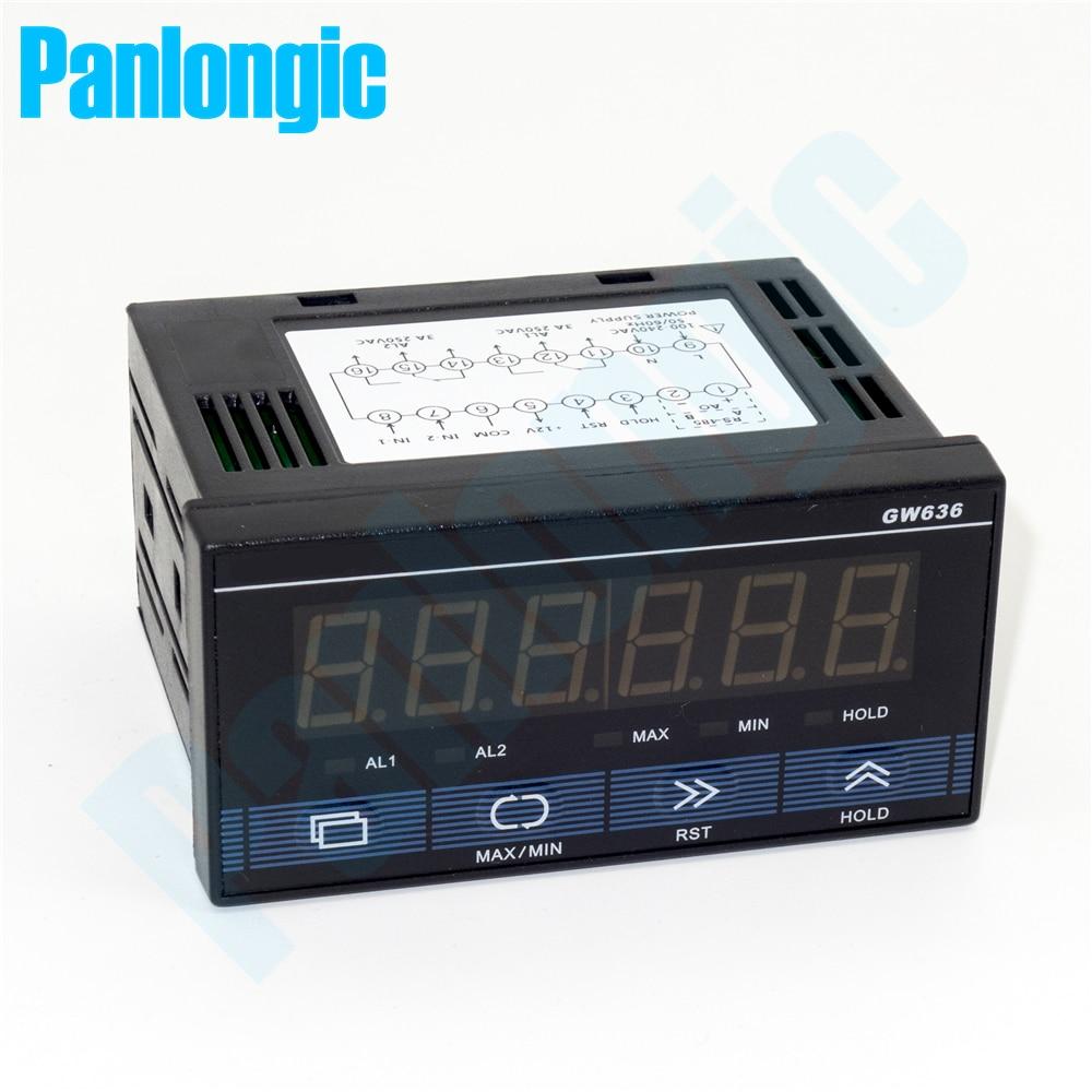 Compteur d'impulsions multifonction Panlongic compteur de vitesse à Rotation de 6 chiffres Cycle 110-240 V AC