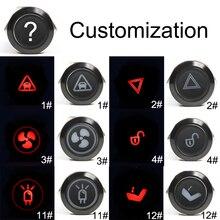 19 мм Momenary/защелкивающийся Алюминиевый металлический светодиодный светильник с логотипом фиксированный кнопочный переключатель настраиваемый Автомобильный громкоговоритель