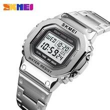 Часы наручные SKMEI мужские с хронографом, цифровые модные уличные спортивные водонепроницаемые, с будильником