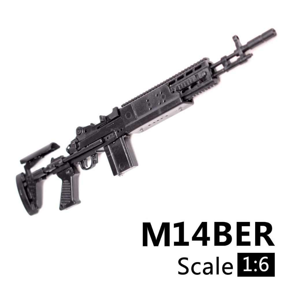 1:6 1/6 Schaal 12 Inch Action Figures M14BER Mk 14 Mod 0/1 Verbeterde Battle Rifle Model Pistool Fix 1/100 Mg bandai Gundam Model Speelgoed