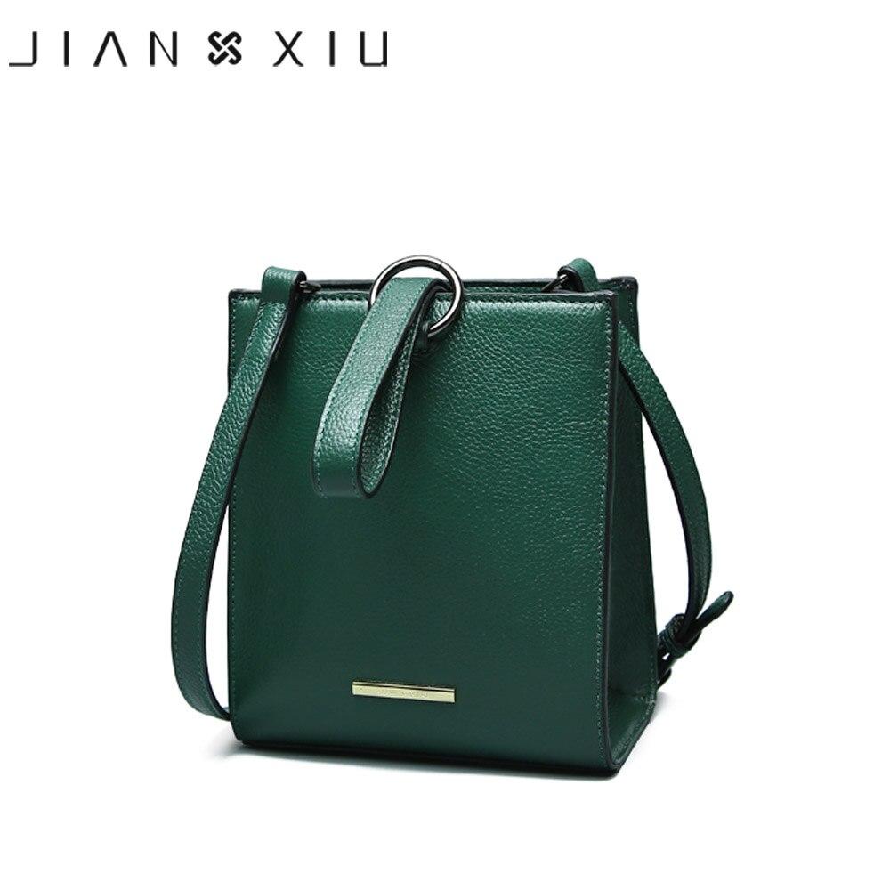 JIANXIU marque sacs à Main en cuir véritable Sac à Main femme Sac Messenger petit Sac à bandoulière épaule anneau rond fourre-tout célèbre