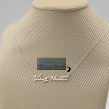 925 Silver Personalized Signature Necklace ,Custom Nameplate Necklace Pendent, Handmade Name Necklace Cut Out Jewelry stylish cut out triangle lariat necklace