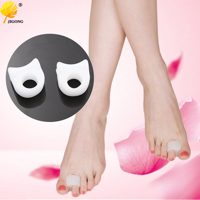 2pcs=1 Pair Gel Foot Care Tool Bunion Corrector Bone Big Toe Protector Hallux Valgus Straightener Toe Spreader Pedicure