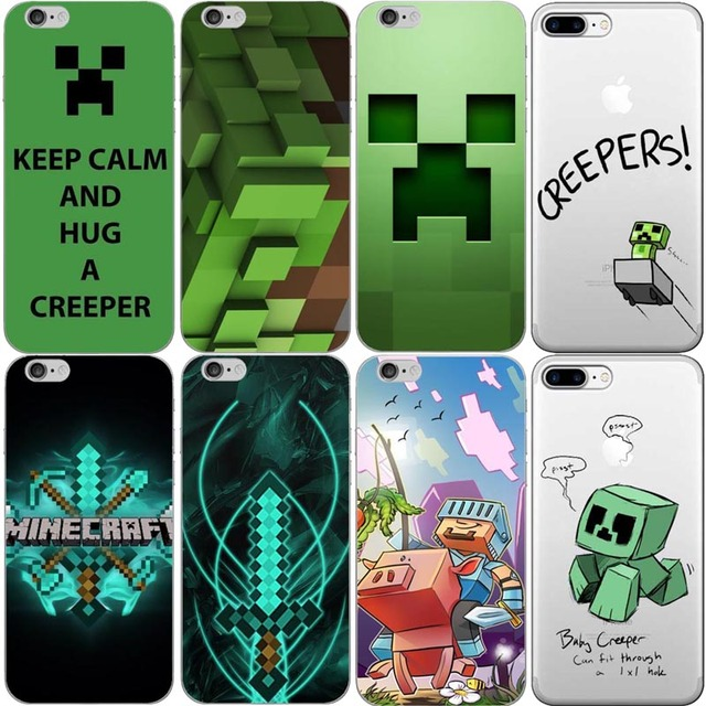 Aliexpress Com Buy Creeper Minecraft Hard Plastic Phone Case Cover