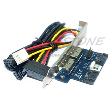 Dual Port SATA to Double Power Over 12V ESATA+5V Adapter Convert Expansion Card -R179 Drop Shipping