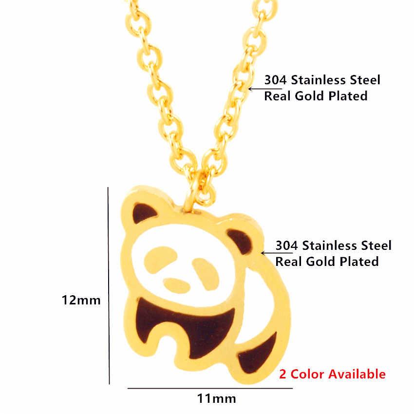 GORGEOUS TALE 2017 Nieuwe Mode-sieraden HOT Leuke Panda Hanger Korte Ketting voor Vrouwen Kind Meisjes Gift Groothandel Drop Verzending