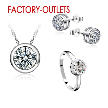 925 Sterling Silver Bridal Jewelry Sets Fashion Jewelry CZ Cubic Zirconia Bezel Setting Women Girls Engagement Anniversary 925 sterling silver stud earrings fashion jewelry for decoration trendy style cz cubic zirconia women girls party engagement