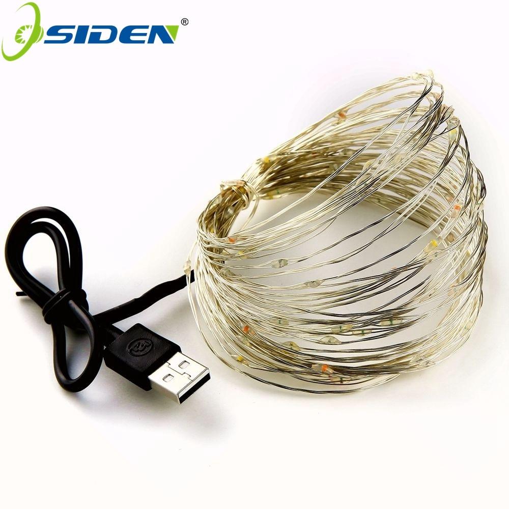 Cadena de luz led 2-10M 20-100led suministro Luz de hadas al aire - Iluminación de vacaciones - foto 6