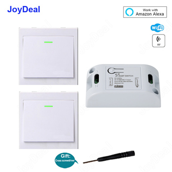 Smart Wifi Wall Light Switch DIY Smart Home 433Mhz Wireless RF Remote Control Receiver Led Lamp Switches Work with Amazon Alexa 1