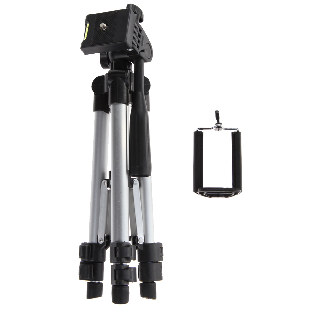 3C Global Store  Aluminum Professional Telescopic Camera Tripod Stand Holder For Digital Camera Camcorder Tripod For iPhone Samsung Smart Phone