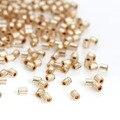 Granos de la Semilla de Cristal Japonés Hexágono DoreenBeads Champagne Silver Lined Acerca de 2mm x 2mm, Agujero: 0.8mm, 10 Gramps (Unos 140 PCs/Gram)