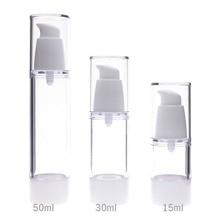 15 мл 30 мл 50 мл пустая пластиковая косметическая бутылка для путешествий прозрачные безвоздушный вакуумный насос контейнер для туалетных принадлежностей#225813