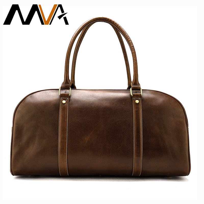 MVA Large Weekend Duffle Bag Genuine Leather Mens Travel Bag for Luggage Business Suitcase High Quality Duffle Travel Bags 8390MVA Large Weekend Duffle Bag Genuine Leather Mens Travel Bag for Luggage Business Suitcase High Quality Duffle Travel Bags 8390