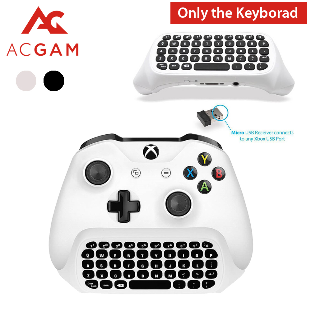 Acgam Mini Inalámbrico 2,4g Mini Teclado Inalámbrico Mensaje Para Microsoft Xbox One Controlador Chatpad Para Xbox One Aliviar El Reumatismo Y El FríO