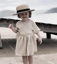 Toddler Children Clothing 2019 Summer Baby Girls Cotton Linen Dress Japan Korea Kids Short Sleeved Dress Sweet Princess цены онлайн