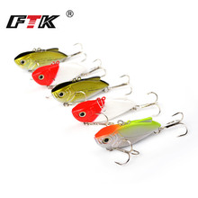 FTK Fishing Lure Kit Minnow Wobbler 5pcs/lot Jig Head 65mm 12.5g 3D Eye VIB Swim Bait Tackle Set Bass Hard HB
