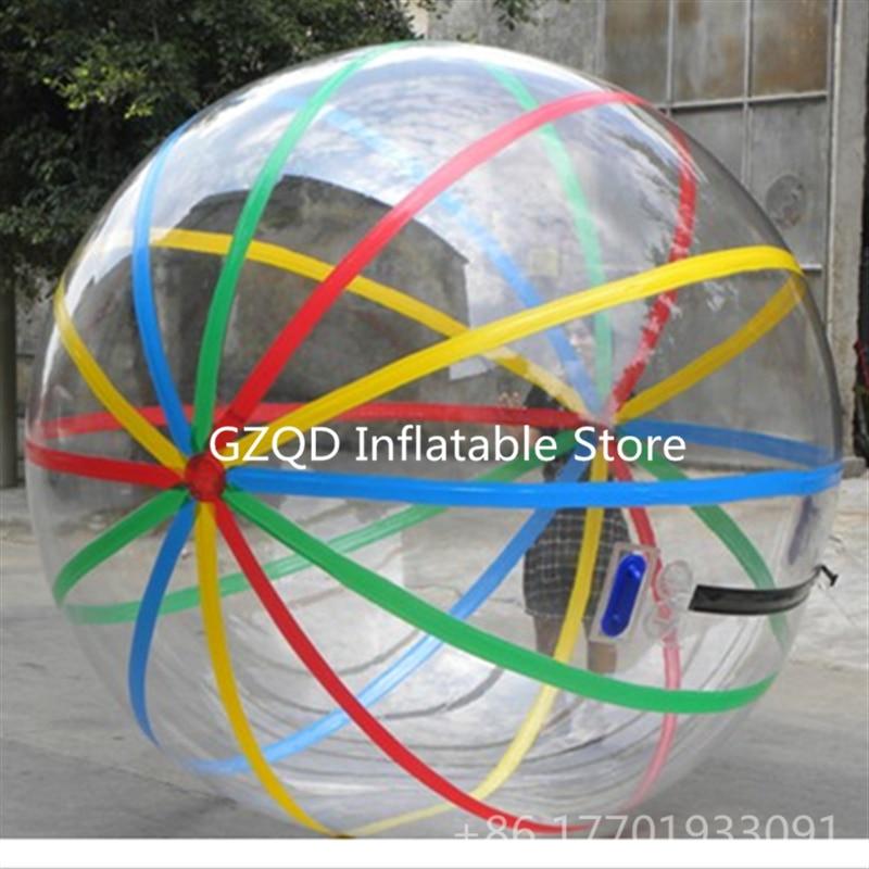 Sfera Dell'acqua Gonfiabile di Colore opzionale 1.0mm PVC Indlatable Bolla Acqua A Piedi Palla Giocattoli Per Bambini Palla Zorb