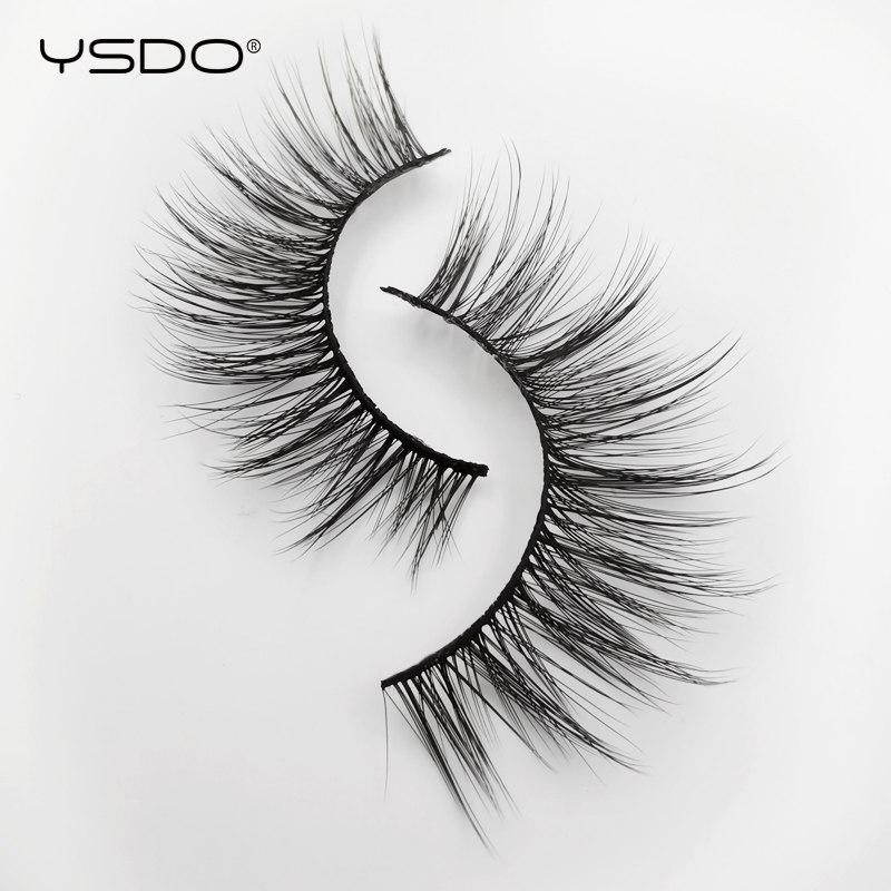 ysdo 3d mink eyelashes natural long mink long cilios lashes Reusable hair false lashes plastic cotton stalk makeup fake eyelash in False Eyelashes from Beauty Health