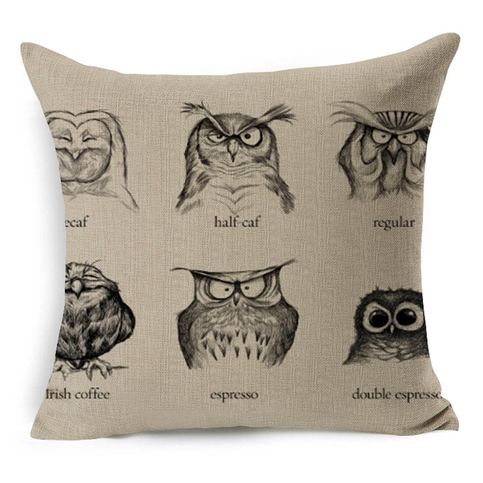 line Shop Hyha Elephant Owl Dog Deer Hedgehog Cushion Cover