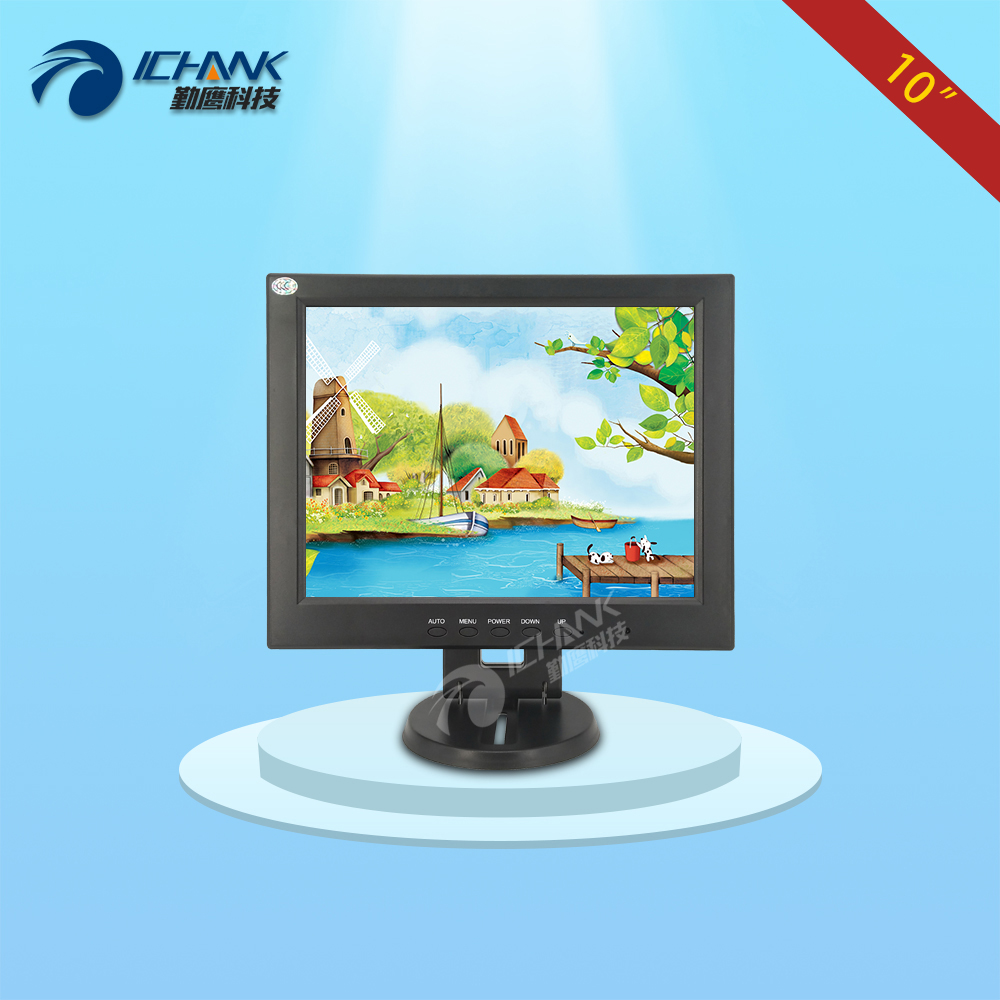 CB100JN-TV1/10 inch 800x600 4:3 Small Built-in Speaker HDMI VGA HD POS Machine Monitor RF Antenna Satellite Closed-Circuit TV 8 4 8 inch industrial control lcd monitor vga dvi interface metal shell open frame non touch screen 800 600 4 3