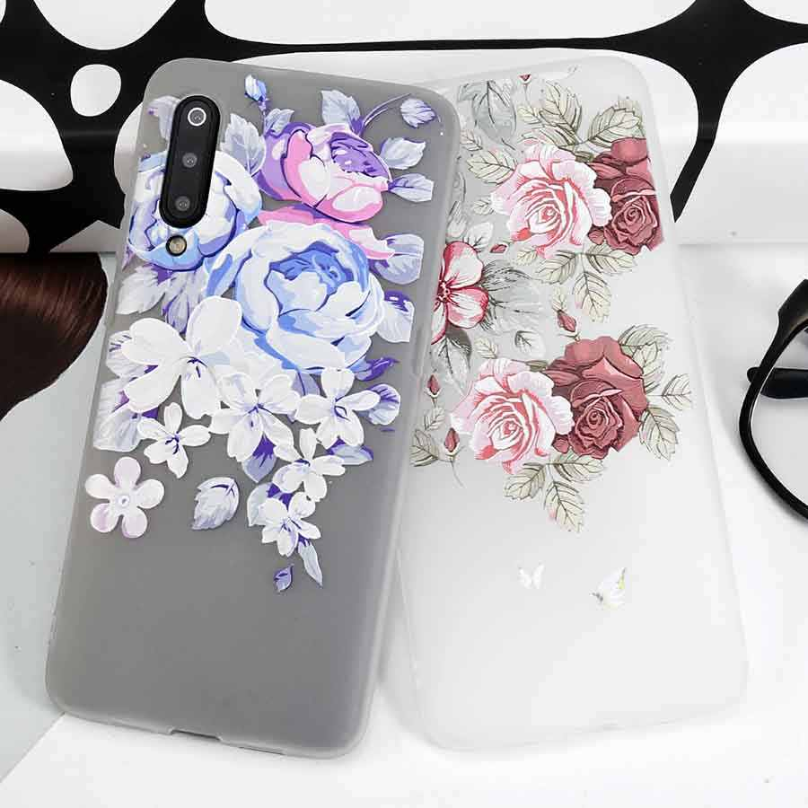 Red Purple Rose Silicon Phone Case For Samsung Galaxy Note 10 Pro A80 A60 A20E A2 Core A70 A40 M40 M30 Cover Coque Fundas