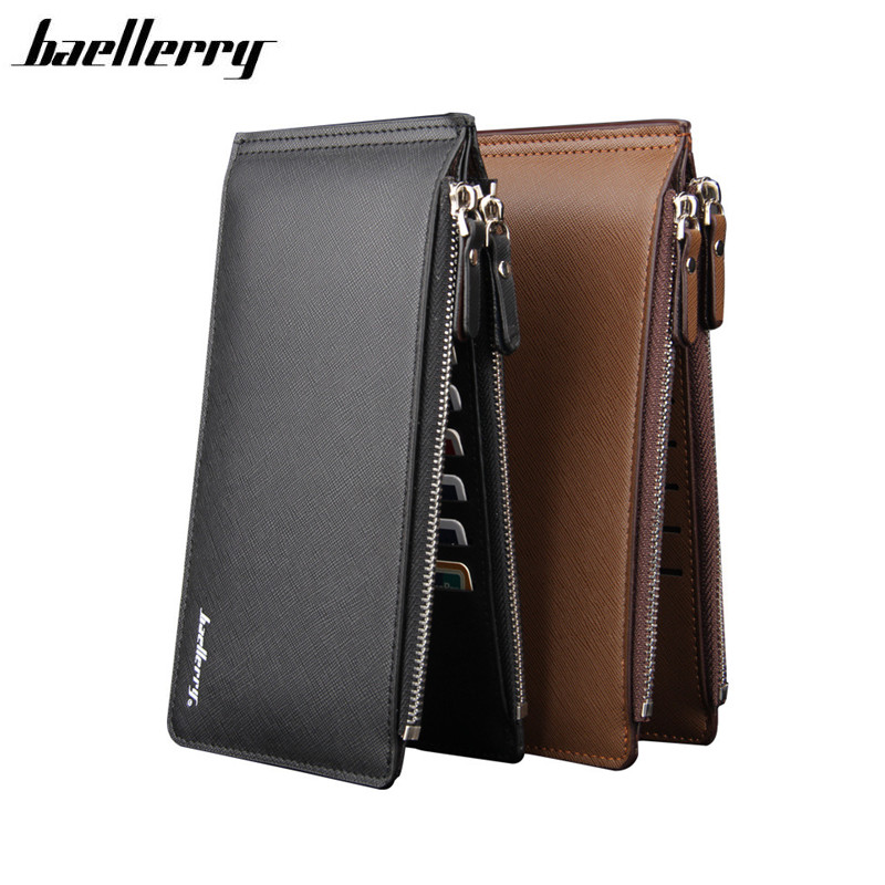 Large Capacity 16 Slots Card Holders Men Leather Wallet Famous Brand Bifold Money Purse Fashion Male Cash Coin Pocket Free Ship 2017 purse wallet big capacity female famous brand card holders cellphone pocket gifts for women money bag clutch passport bags