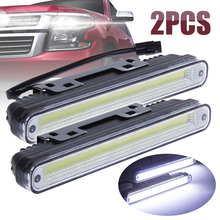 Mayitr 2pcs Car COB LED Day-time Running Driving Light Fog Lamp 6000K White Waterproof 1800LM DC12V-24V