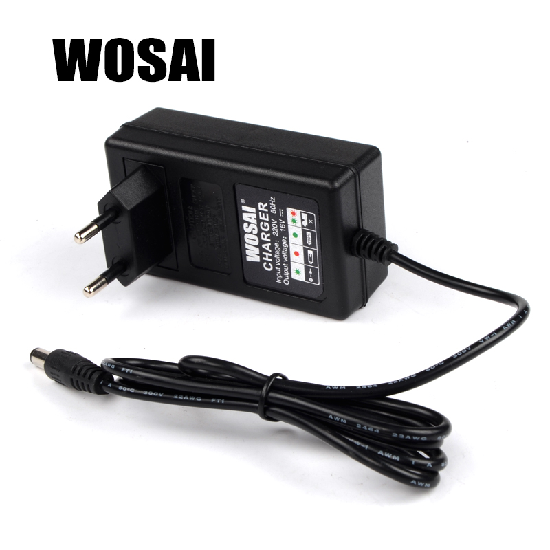 WOSAI 16V Cordless Drill Lithium Battery Charger Battery Pack Charger Adapter Applicable Drill Model WS-3015