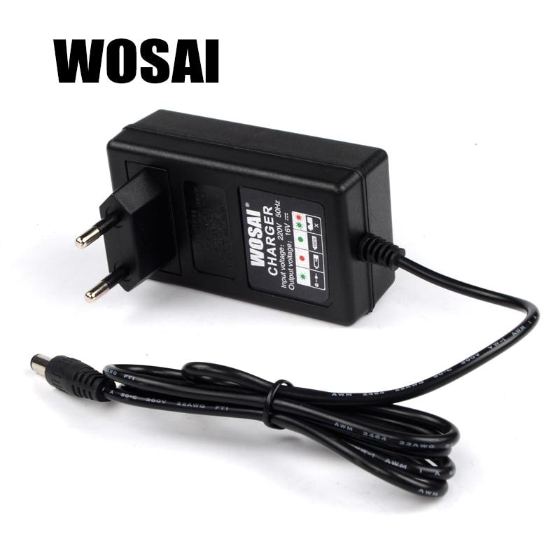 WOSAI 16V juhtmeta puur-liitiumakulaadija Akulaadija-adapter Adapteeritav puurimudel WS-3015