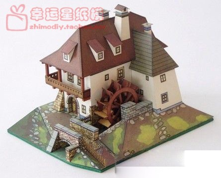 ABC Water Tanker Building 3d Paper Model DIY Handmade Paper Mold Paper Mold Decoration Toys