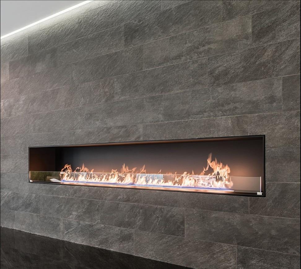 Inno Living Fire 60 Inch Elektrokamin Intelligent Real Flame Ethanol Fireplace