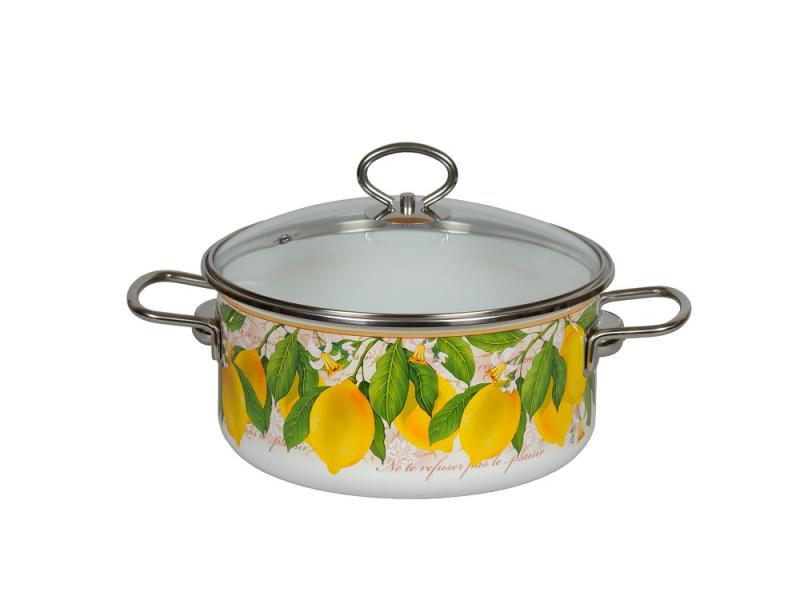 Pan VITROSS, Limon, 3 L, with glass cover pan vitross fruits 3 l with glass cover