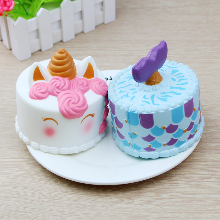 Squishy Toys Cake Anti-stress Cute Squishes Squeeze Toy Squishi for Stress Relief and Time Killing