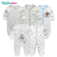 4/5Pcs/Lot Unisex Top Quality Baby Rompers Long Sleeve Cottom O Neck 3,6,9,12M Newborn Boys&Girls Roupas De Bebe Baby Clothes