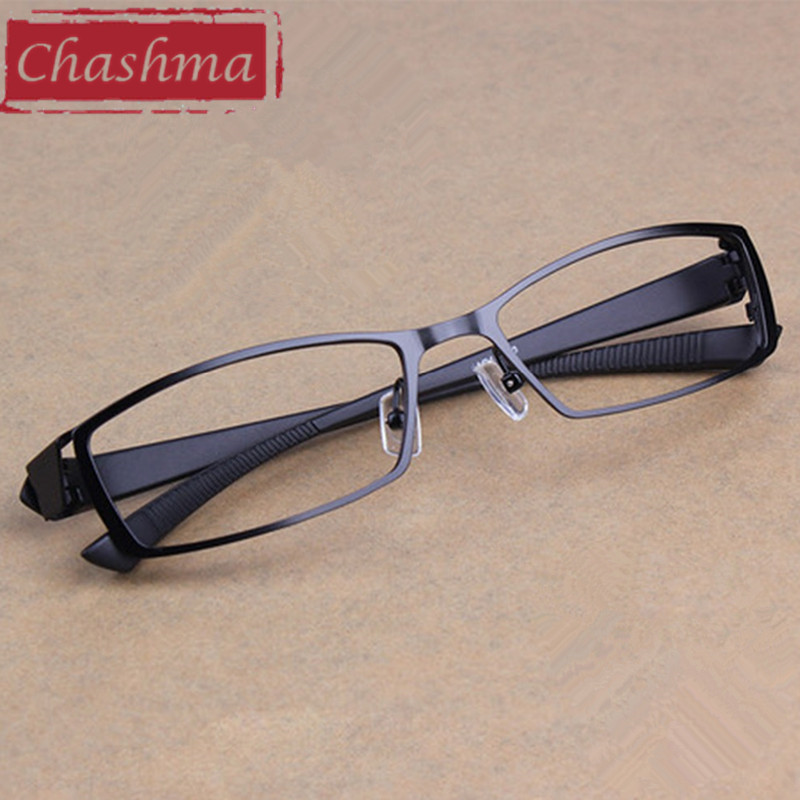 Chashma Men Titanium Alloy Metal Ochelari de vedere Full Frame Ultra Light Light Myopia Frame