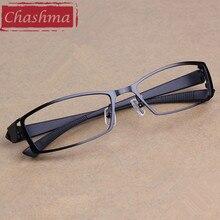 Chashma 남자 티타늄 합금 금속 안경 전체 프레임 울트라 라이트 근시 안경 프레임