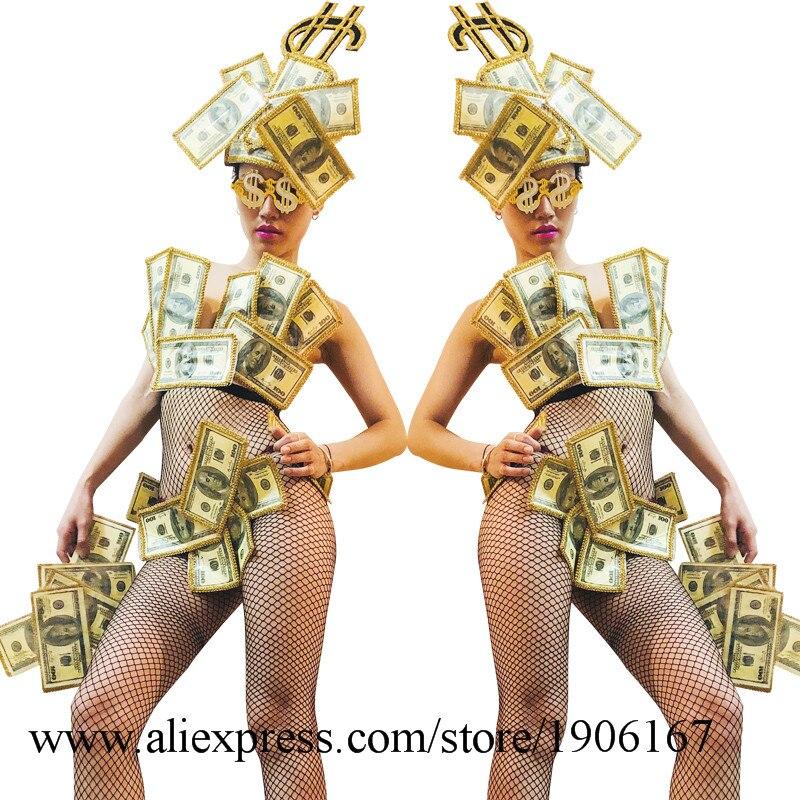 US dollar art design gogo bar ds costume sexy bikini performance clothing6