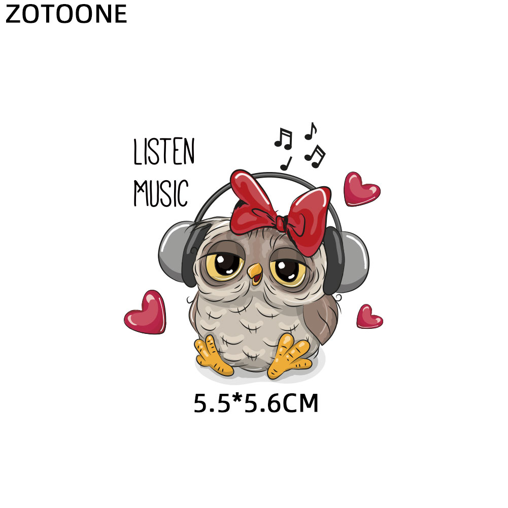 ZOTOONE Cute Cartoon Animal Patches Heat Transfer Iron on Patch for T Shirt Children Gift DIY ZOTOONE Cute Cartoon Animal Patches Heat Transfer Iron on Patch for T-Shirt Children Gift DIY Clothes Stickers Heat Transfer G